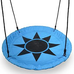 """Barcaloo 40"""" Flying Saucer Tree Swing - Blue, 600 lb Weight"""