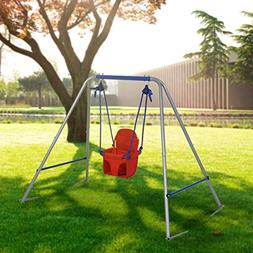 HLC Outdoor Folding Toddler Garden Swing Frame with Safery S
