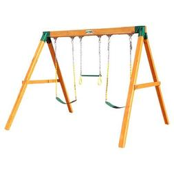 Gorilla Playsets Free Standing Swing Station in Amber Staine