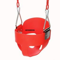 Full Bucket Toddler Swing Seat with Plastic Coated Chains -