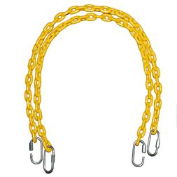 Fully Coated Chain 85 Inch Long x 2 + 4 Free Quick Links in