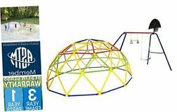 Geo Dome Climber with Swing Set
