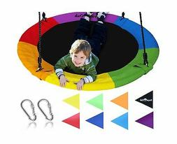 "Giant Play Set Attachments 40"" Saucer Tree Swing Elite Rainb"