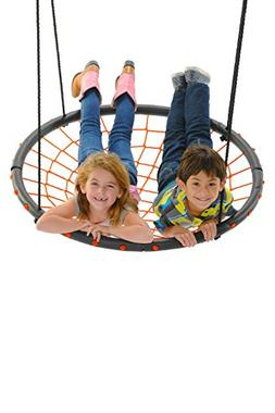 Giant Spider Web Tree Swing, Orange - Supports 400 Pounds, 4