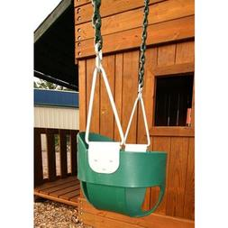 Gorilla Playsets Full Bucket Toddler Swing, Green