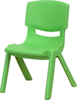 """Green Plastic Stackable School Chair with 10.5"""" Seat Height"""