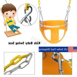 Half Bucket Swing for Toddler Seat Set Playground Outdoor Sw