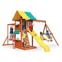 KidKraft Hazelwood Wooden Outdoor Backyard Kids Playground S