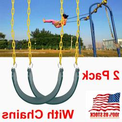 Heavy Duty Outdoor Hanging Swing Seat Set w/ Replacement Cha