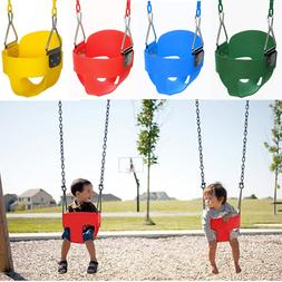 High Back Full Bucket Playground Set With Chain Outdoor Fun
