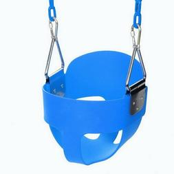 High Full Bucket Swing With Coated Chain,Toddler Swing Set S