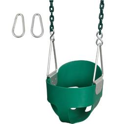 Highback Full Bucket with 5 1/2ft coated chain, Green