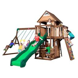 Step2/Backyard Discovery Hillbrook Wood Swing Set, Two-Tone