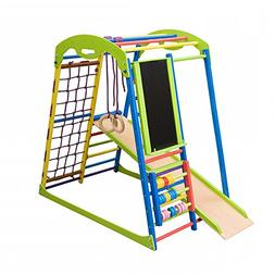 Dani LLC Colored Indoor Wooden Playground for Kids SportWood