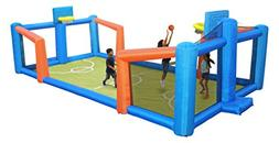 Outdoor Inflatable Slama Jama Basketball Court with Carry Ba