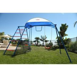 IRONKIDS Inspiration 100 Metal Swing Set with Ladder Climber