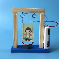 Invention experiment wood electromagnetic science DIY swing