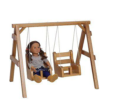 18 doll playground swing set solid wood