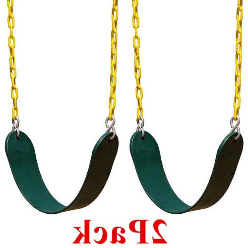 2 PACKS Swing Set for Playground Green