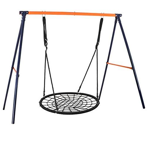 ZENY 40'' Web Swing Round Platform Hanging Ropes Hold lbs,Great for Tree,Playground,Playroom,Backyard