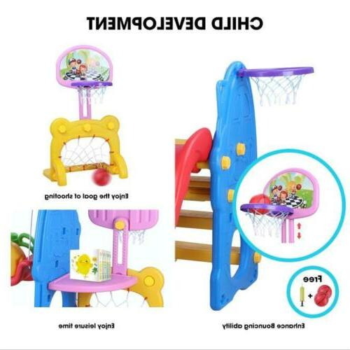 Slide Swing Kids In/Outdoor Family Playground Climber Big Toddler