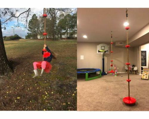 6.5FT Tree Rope With Seat, Swing Rope Ladder