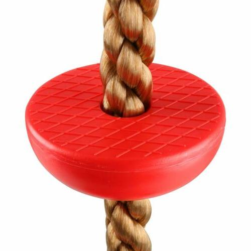 6.5FT Climbing Rope With Disc Swing Seat, Ladder