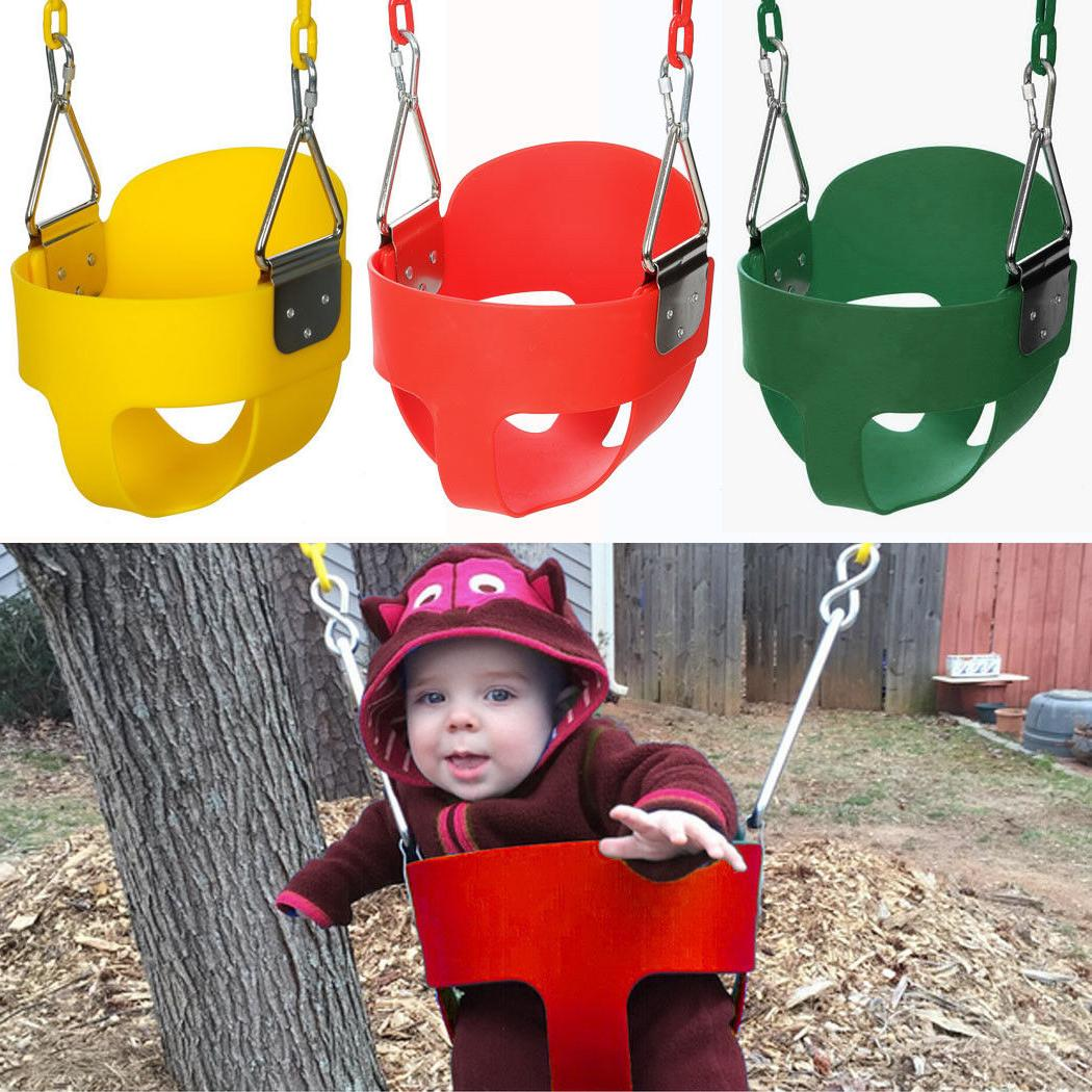 Full Bucket Swing Set for Toddler Baby Seat Playground Outdo