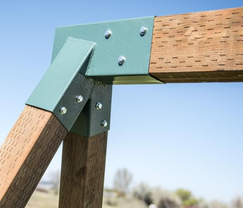 Squirrel Products A-Frame Set Bracket - for 2 4x4 Legs 1 4x6 Beam -