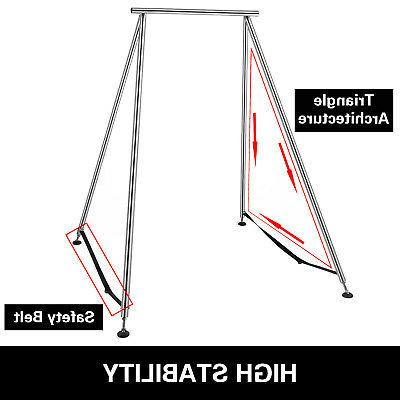 Aerial Trapeze Stand Swing Bar w/39ft Sets Home