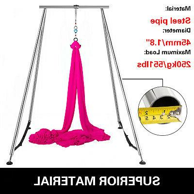 Aerial Trapeze Stand Swing w/39ft Silk Sets Home