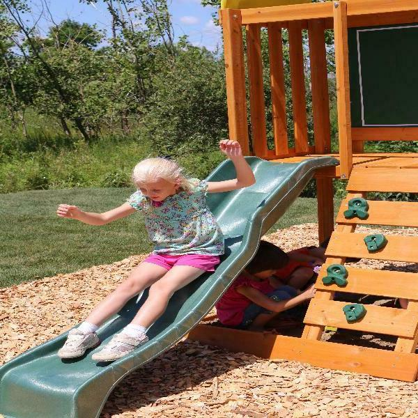 Swing Playground Outdoor Cedar Wooden