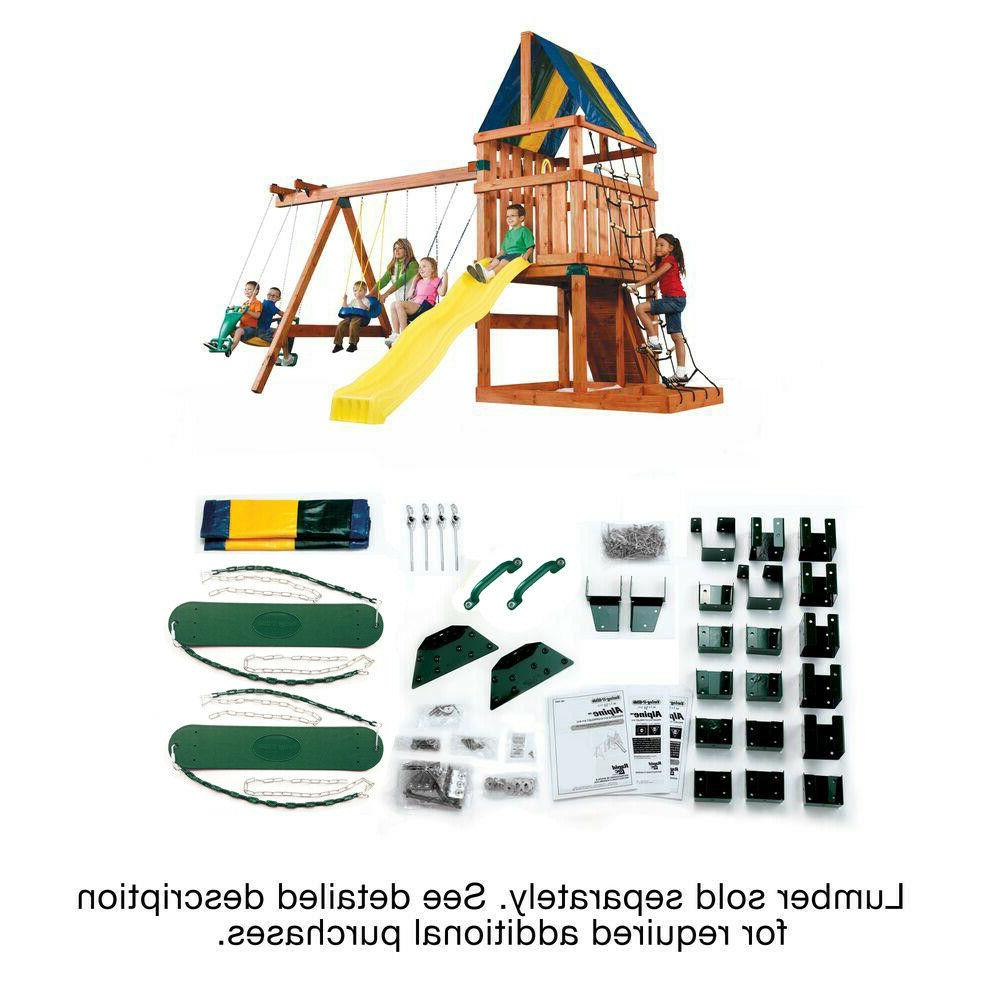 Alpine Custom Playset Children Swing Playhouse Outdoor Fun S