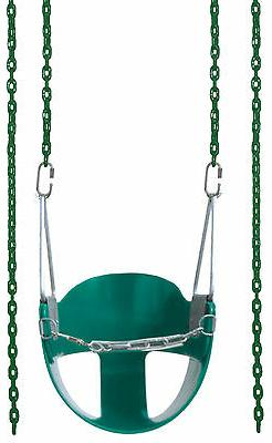 Baby Swing set Toddler ½ Bucket Full Coated  Chain Seat pla