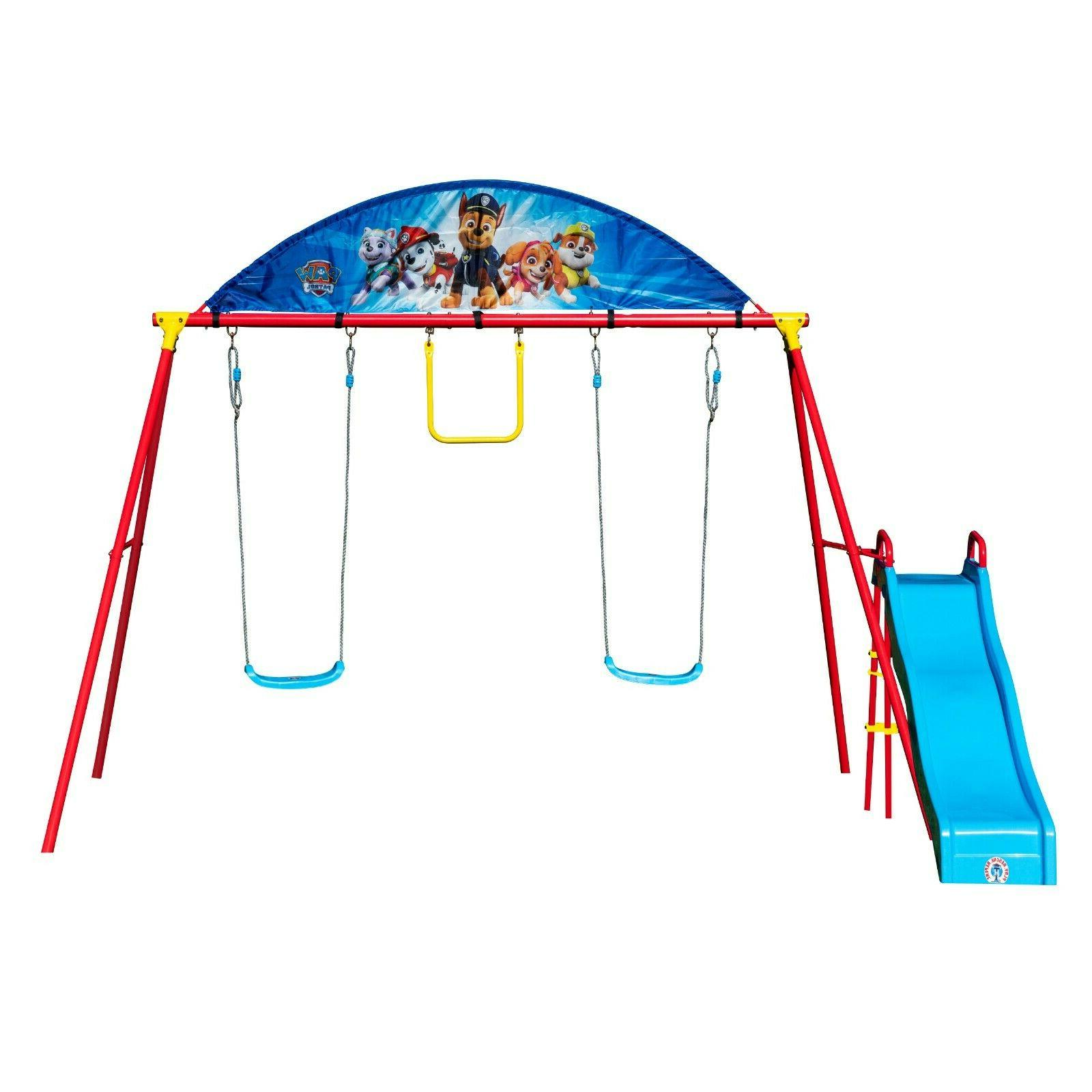 Children Playground Trapeze Rings Set Kids Outdoor Swing