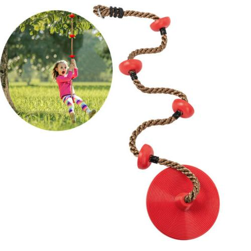 climbing swings rope with platforms and disc