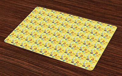 colorful placemats set of 4 washable fabric