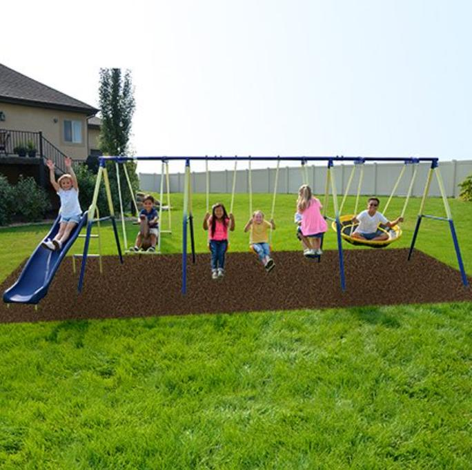 Complete Outdoor Playground Kid Swing
