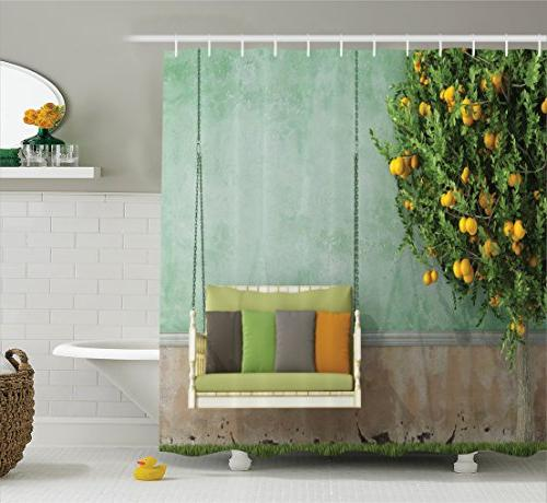 country home decor shower curtain
