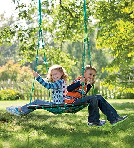 Deluxe Swing for Playground, Webbed Mat and Padded Frame, Multiple Kids 40 L W