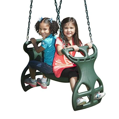 Swing-N-Slide WS Duty Person Glider Swing, with Chains to in L, Green