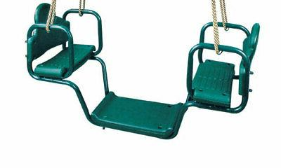 face to face glider swing with rope