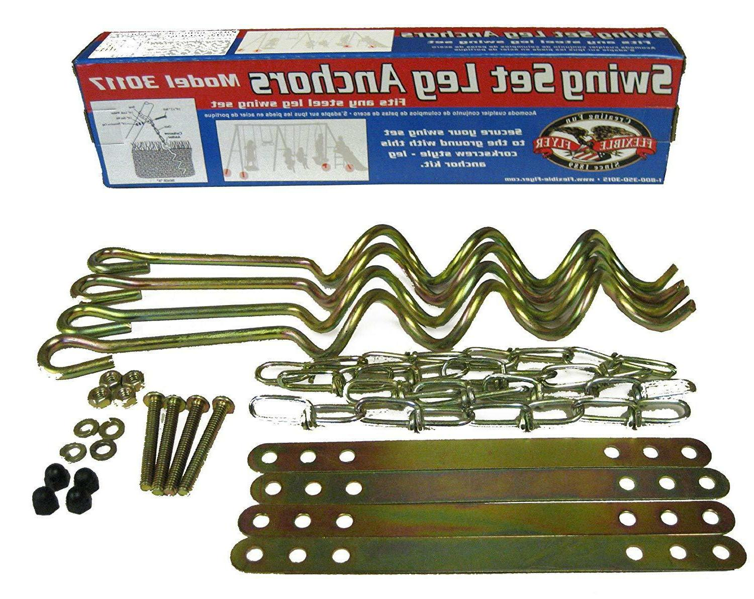 flexible flyer ground anchor kit for metal