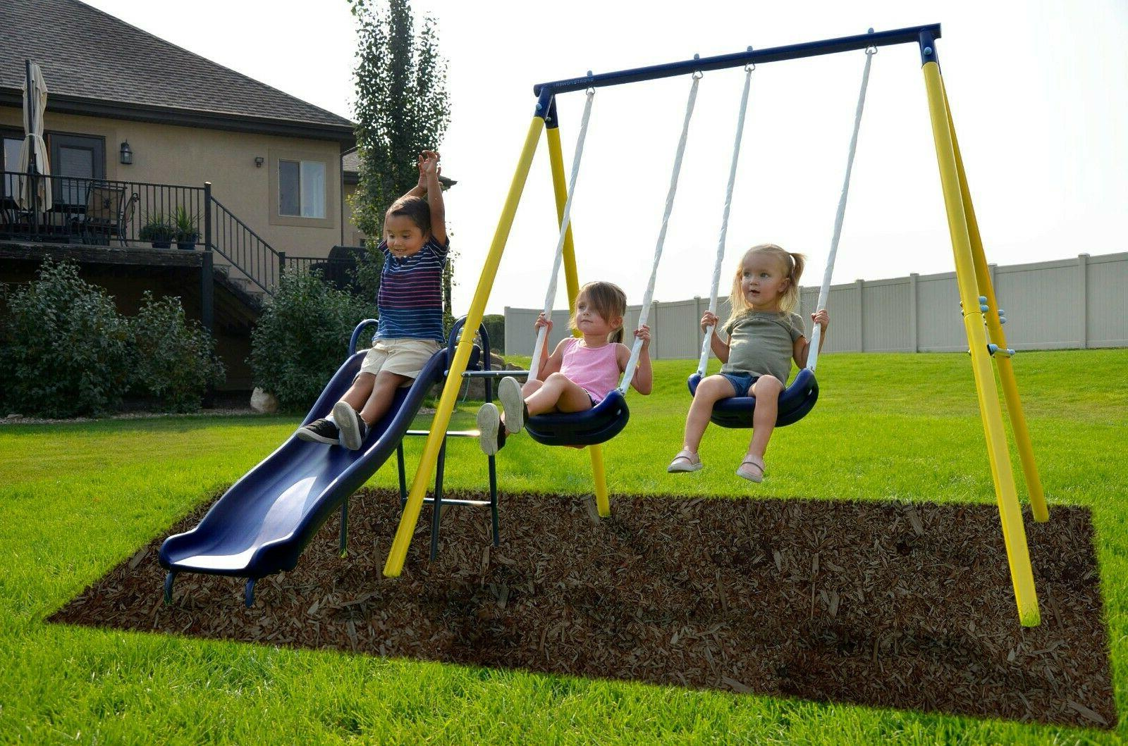 Fun Set Kids Slide Backyard Space Saver