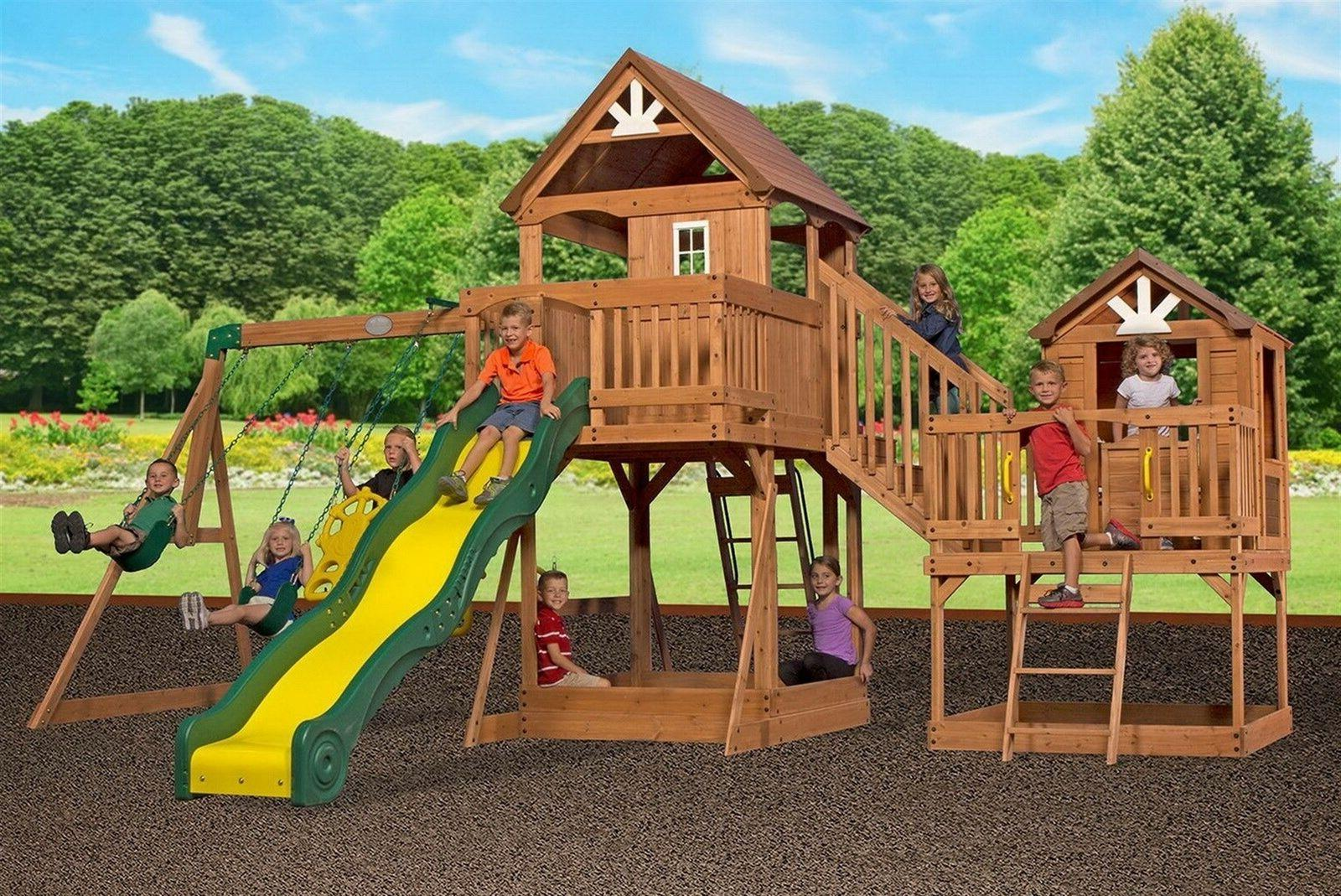 giant 2 clubhouse wooden playground