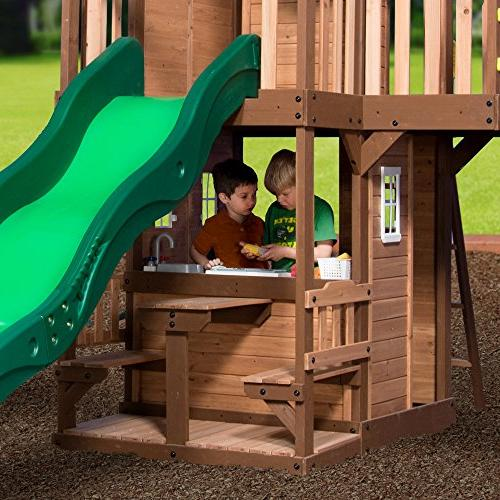 Step2/Backyard Discovery Hillbrook Swing Set, Two-Tone