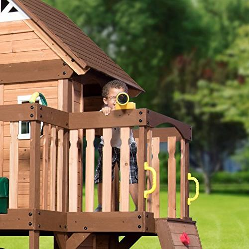 Step2/Backyard Discovery Wood Swing Set,