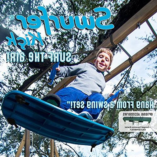 "Swurfer Up Outdoor Surfing for 150 Lbs - from to Feet High - 24"" SwingBoard, Rope, &"