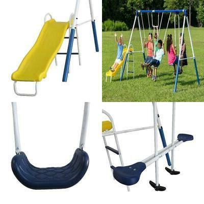kids playground metal swing set outdoor children