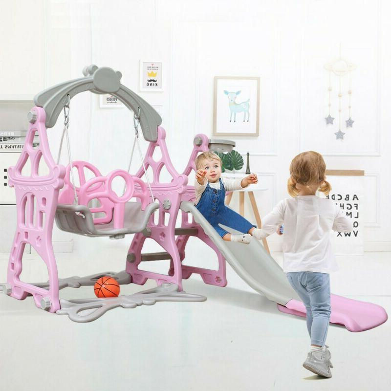 Climber and Swing Set Toddler Play Slide Climber Indoor Outd